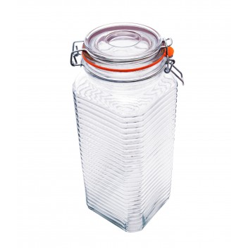 Le Chateâu Ribbed Square Preserve Jar 2.2L