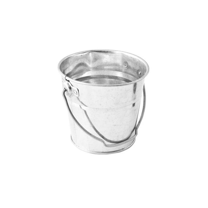 Galvanised Steel Round Bucket 0.3L 8 x 7cm