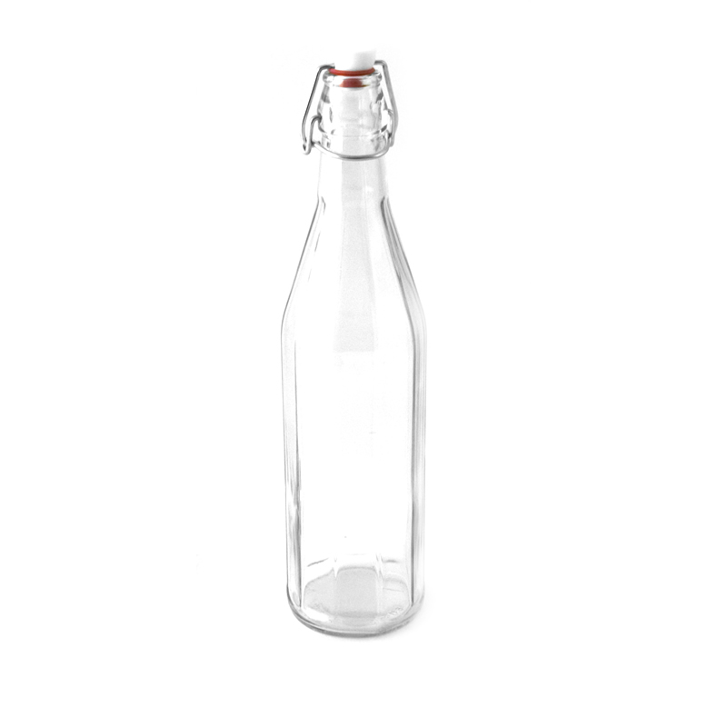 Glass Water Bottle with stopper 750ml