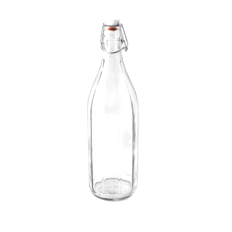 Glass Water Bottle with Swing Stopper 1L