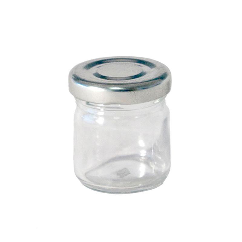 Jam / Sauce Jar with Silver Lid 41ml