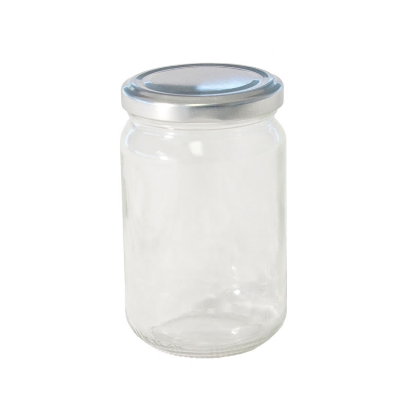 Jam Jar with Silver Lid 12oz