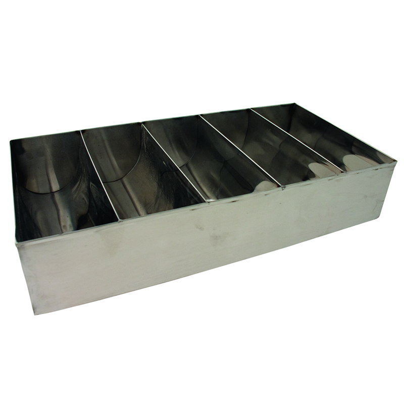 5 Section Stainless Steel Cutlery Holder