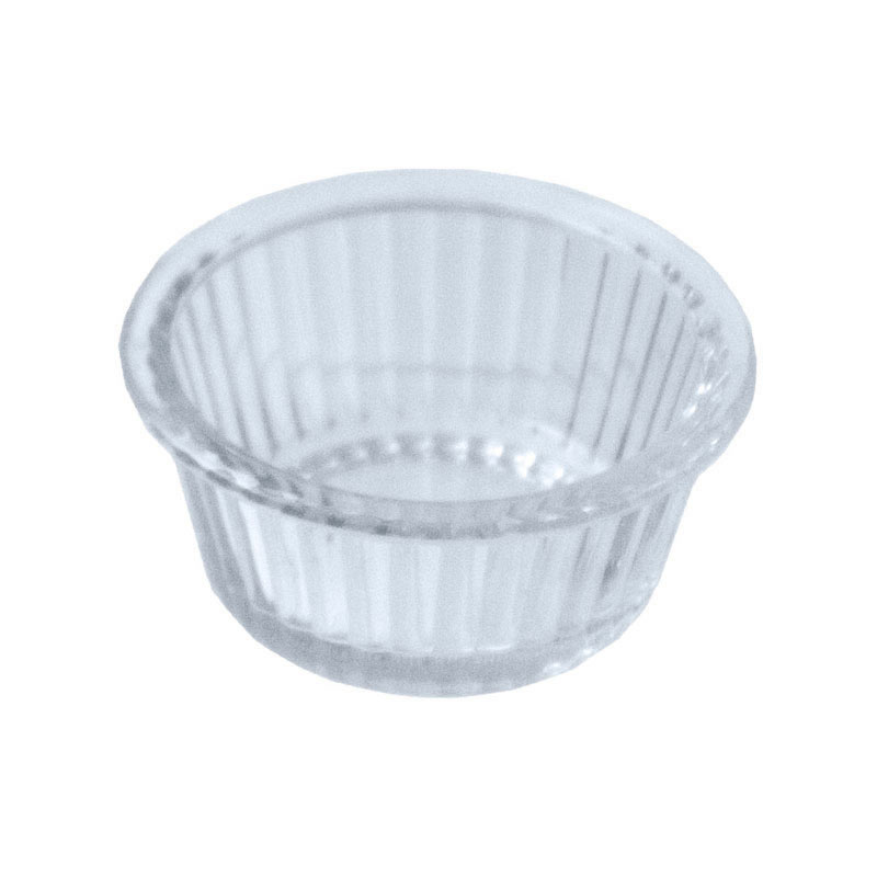 1oz SAN Ramekin Fluted – Clear