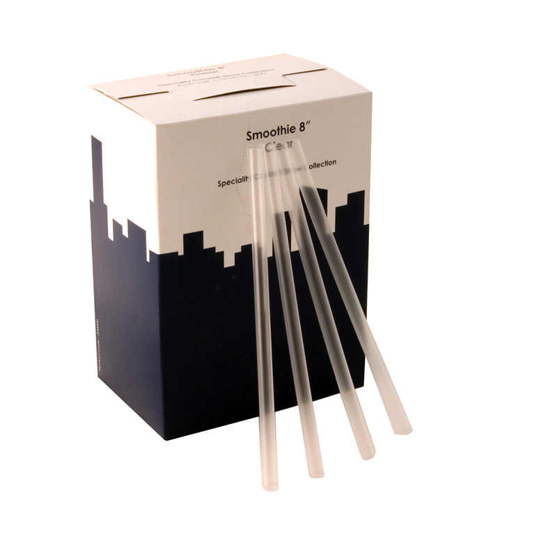 8 Inch Super Jumbo Smoothie Straw Box Of 200