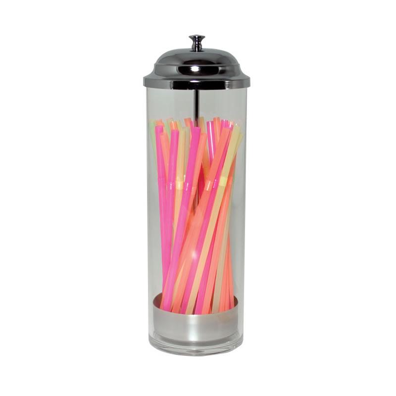 10 Inch Acrylic Straw Dispenser