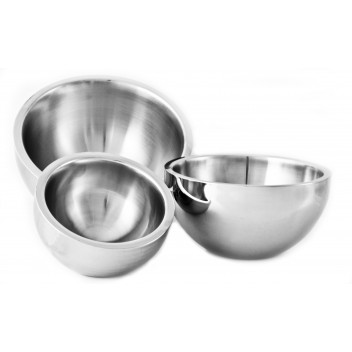 Dual Angle Bowl Plain Double Walled 30cm
